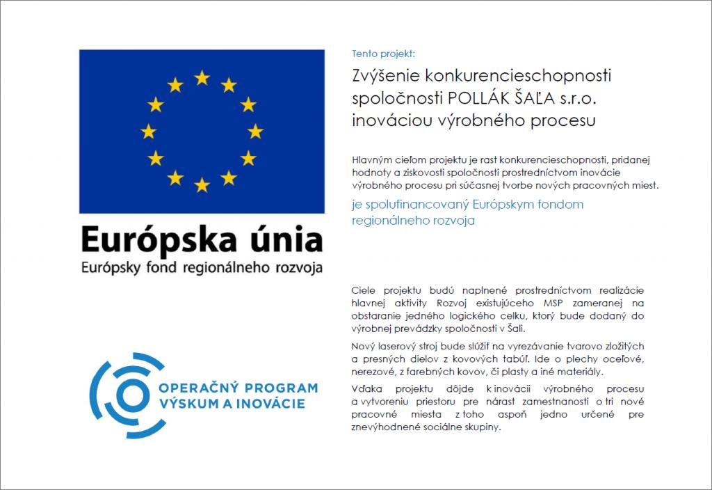 Pollák Šaľa - Európske fondy